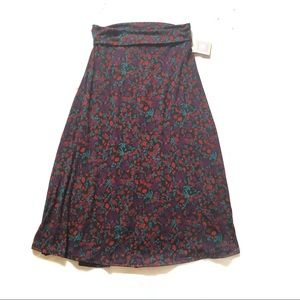 NEW Lularoe floral print maxi full length skirt
